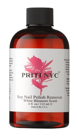915 - Soy Nail Polish Remover w/ White Blossom Scent 4 oz. [biodegradable, non toxic,vegan, cruelty free and gluten free]