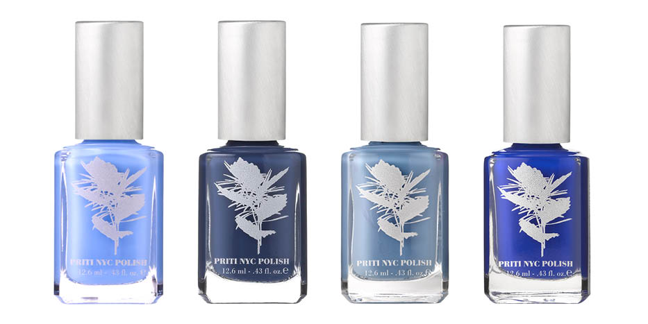 PRITINYC FEELING BLUE  VEGAN NAIL POLISH COLLECTION