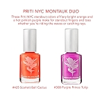 Montauk duo bright orange and pink vegan nail polish